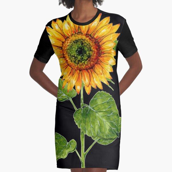 Sunflower dark Graphic T-Shirt Dress