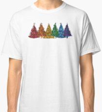 Regenbogen Weihnachtsbäume Classic T-Shirt