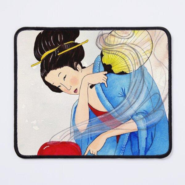 Mrs Hokusai Burns The Toast Mouse Pad
