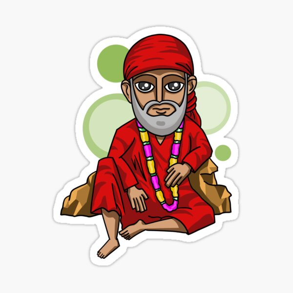 Sai Baba Sticker Photo