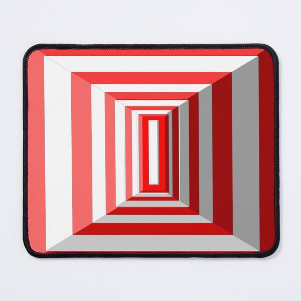 red and white rectangles Mouse Pad
