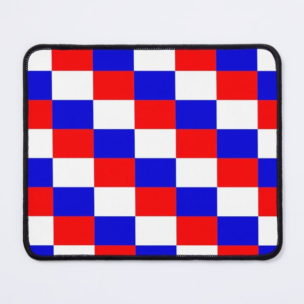 red white and blue checks Mouse Pad