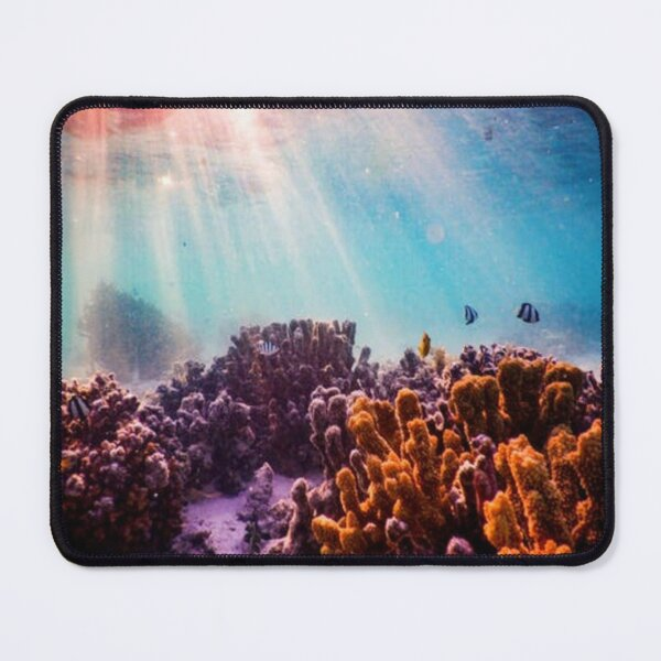 sunlit coral reef Mouse Pad