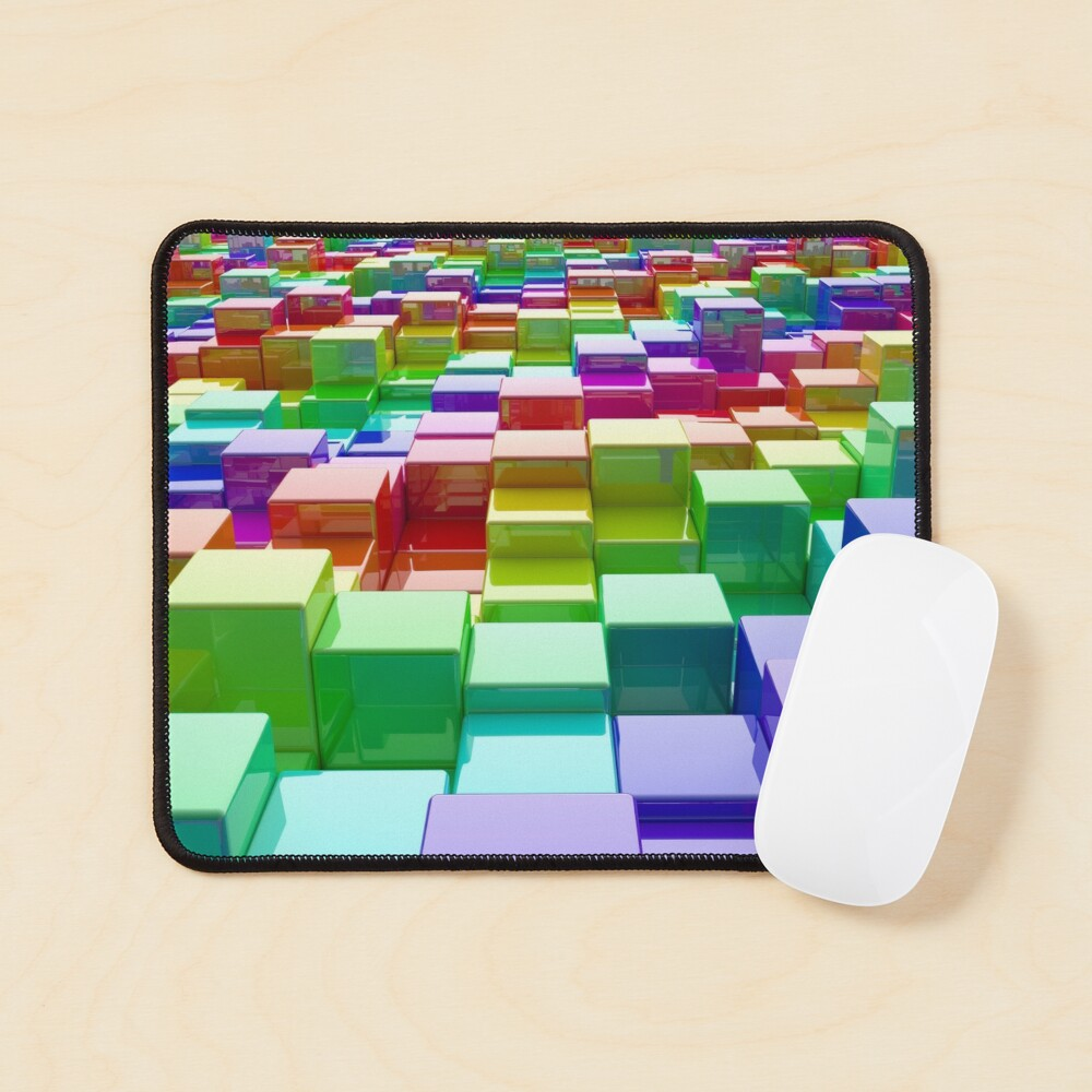Rainbow Cubes Mouse Pad