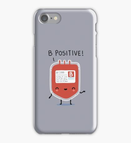 B positive iPhone Case/Skin