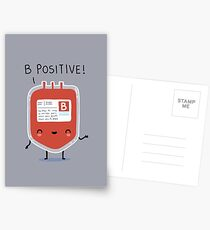 B positive Postcards