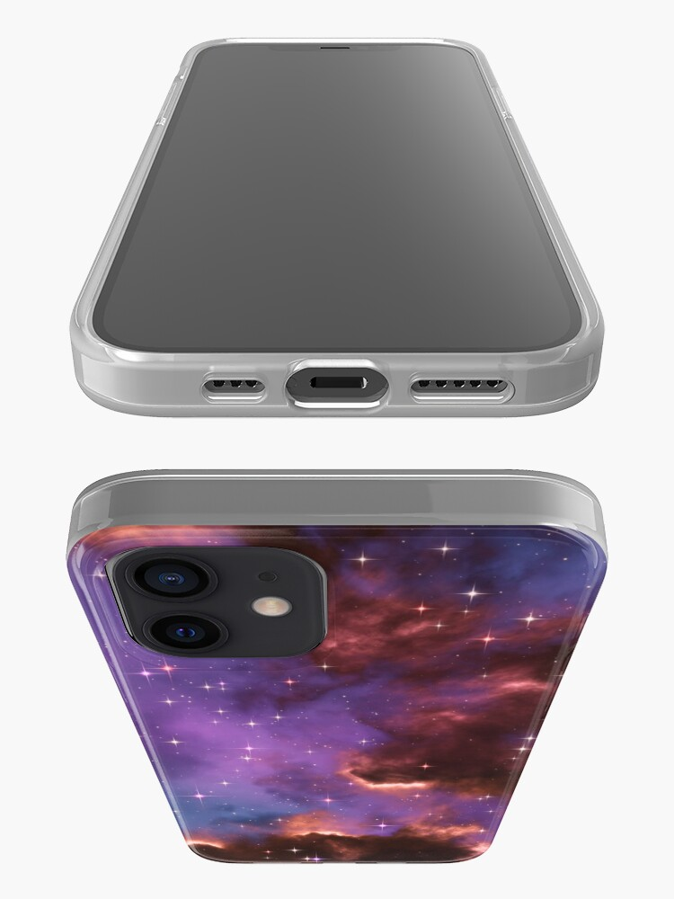 Alternate view of Fantasy nebula cosmos sky in space with stars (Red/Purple/Blue) iPhone Case