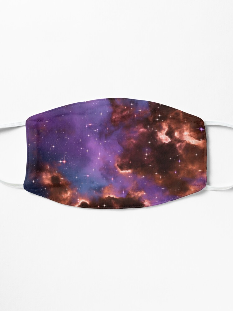 Alternate view of Fantasy nebula cosmos sky in space with stars (Red/Purple/Blue) Mask
