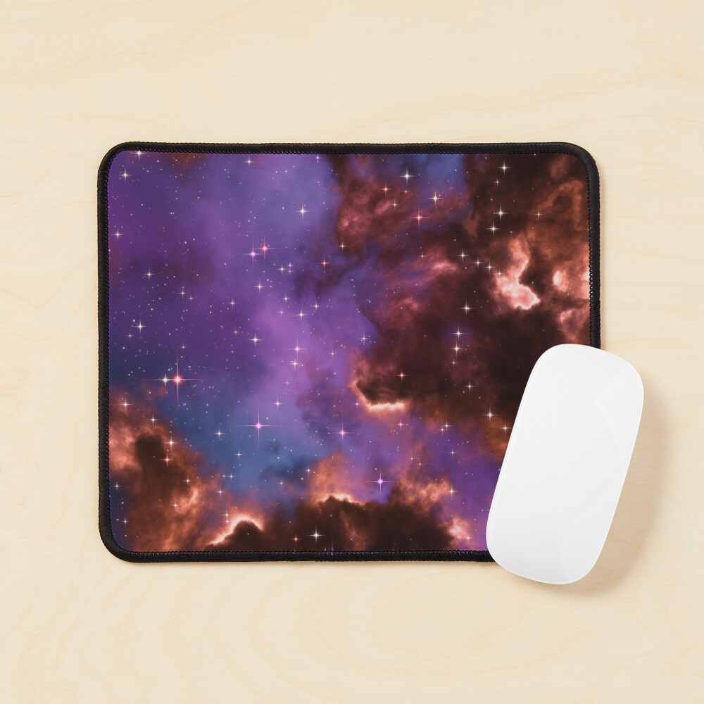 Fantasy nebula cosmos sky in space with stars (Red/Purple/Blue) Mouse Pad