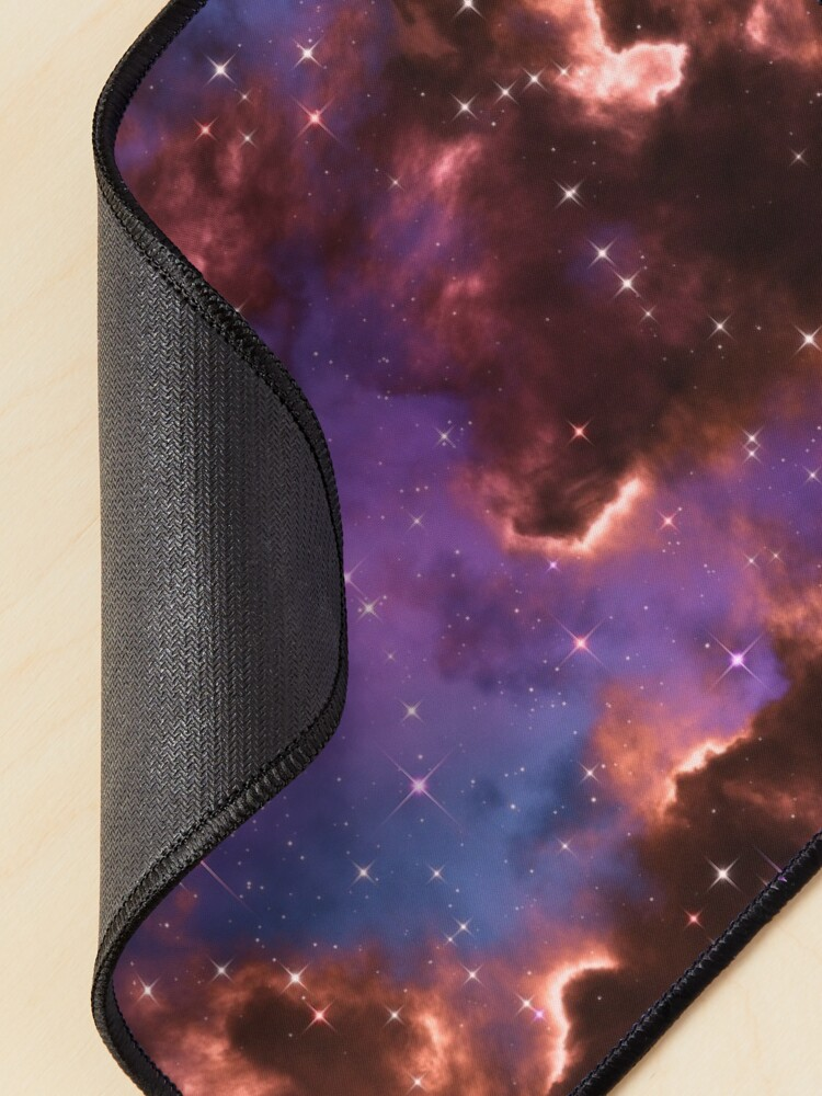 Alternate view of Fantasy nebula cosmos sky in space with stars (Red/Purple/Blue) Mouse Pad