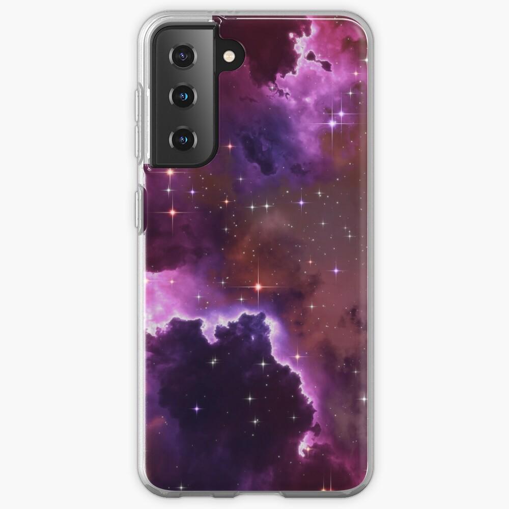 Fantasy nebula cosmos sky in space with stars (Purple/Pink/Magenta) Samsung Galaxy Phone Case