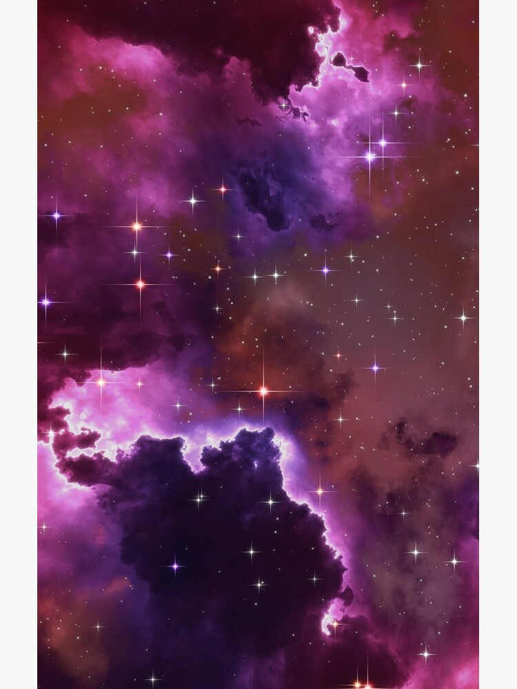 Fantasy nebula cosmos sky in space with stars (Purple/Pink/Magenta) by GaiaDC