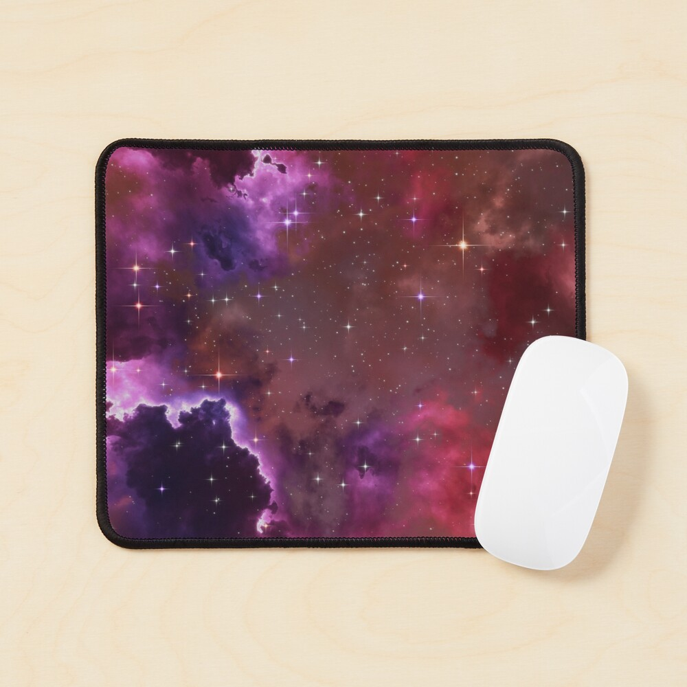 Fantasy nebula cosmos sky in space with stars (Purple/Pink/Magenta) Mouse Pad