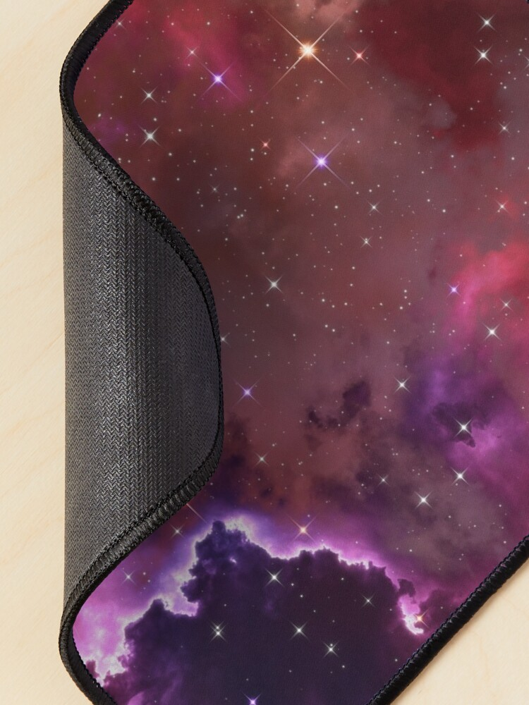 Alternate view of Fantasy nebula cosmos sky in space with stars (Purple/Pink/Magenta) Mouse Pad