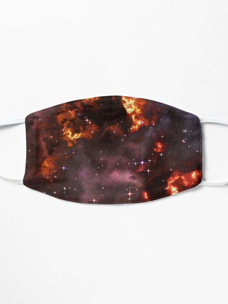 Alternate view of Fantasy nebula cosmos sky in space with stars (Purple/Yellow/Orange/Red) Mask