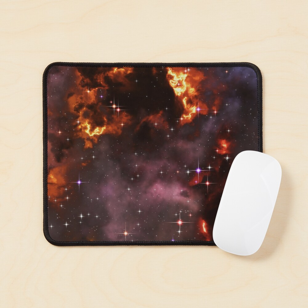 Fantasy nebula cosmos sky in space with stars (Purple/Yellow/Orange/Red) Mouse Pad