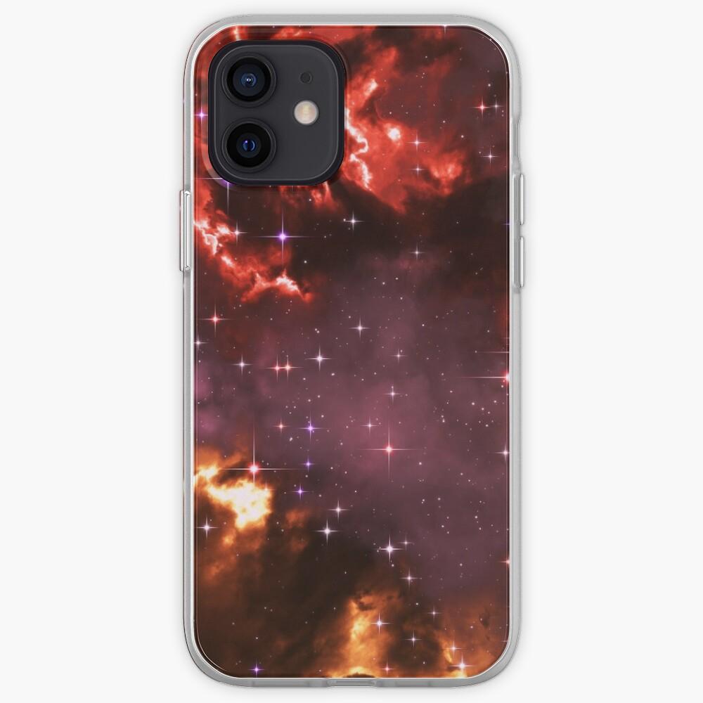 Fantasy nebula cosmos sky in space with stars (Purple/Yellow/Orange/Red/Magenta) iPhone Case