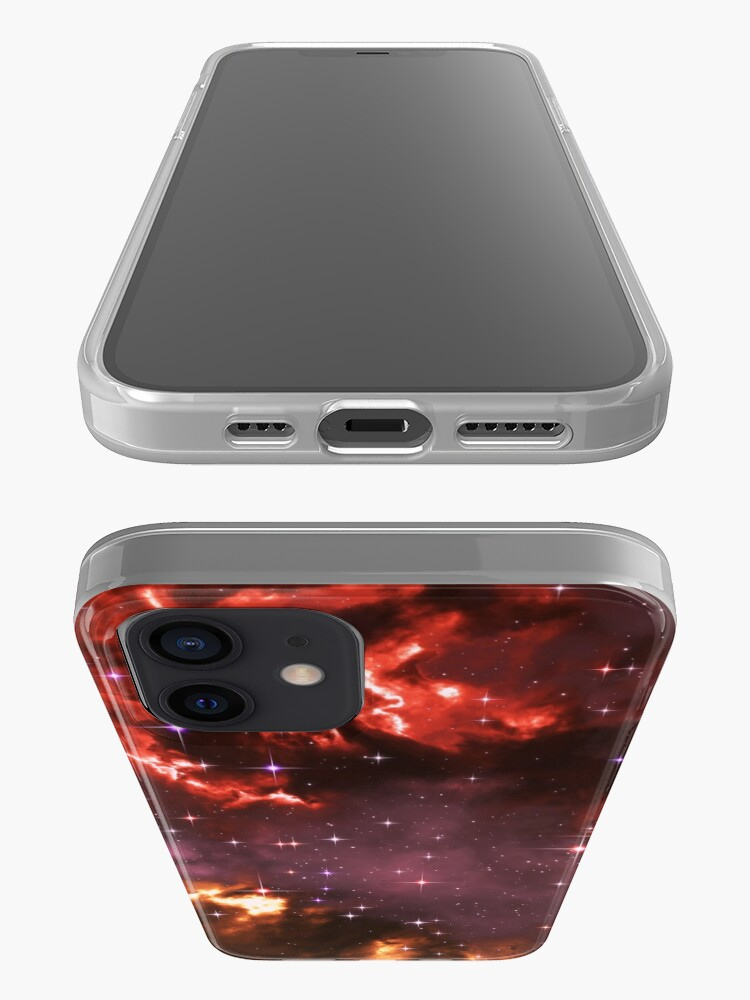 Alternate view of Fantasy nebula cosmos sky in space with stars (Purple/Yellow/Orange/Red/Magenta) iPhone Case