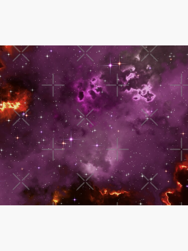 Fantasy nebula cosmos sky in space with stars (Purple/Yellow/Orange/Red/Magenta) by GaiaDC