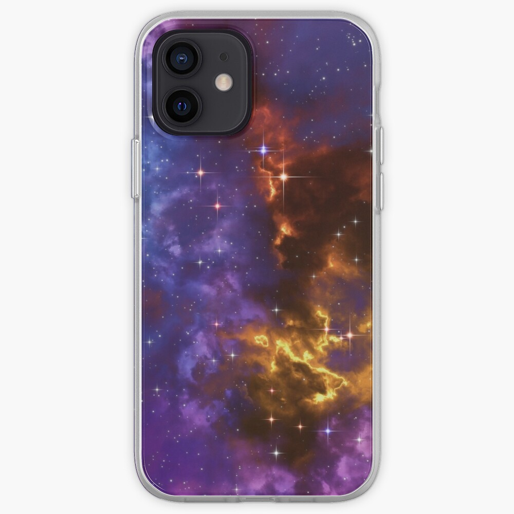 Fantasy nebula cosmos sky in space with stars (Blue/Purple/Red/Yellow) iPhone Case