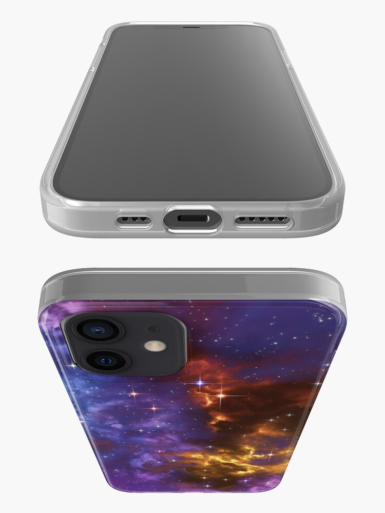 Alternate view of Fantasy nebula cosmos sky in space with stars (Blue/Purple/Red/Yellow) iPhone Case