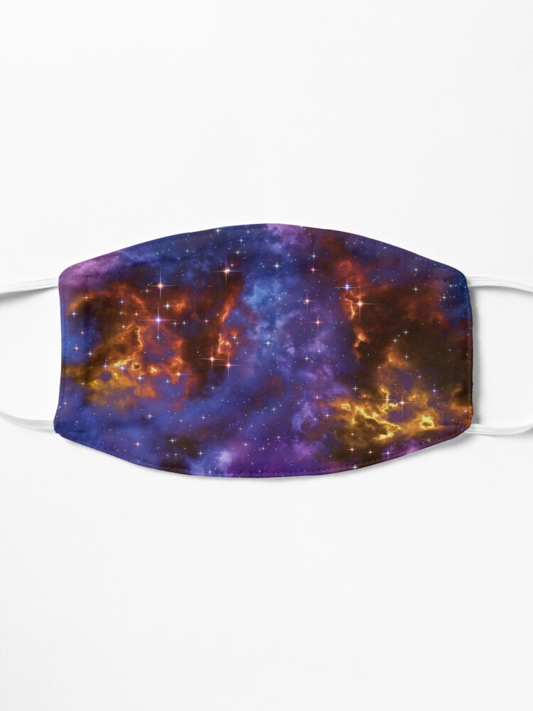 Alternate view of Fantasy nebula cosmos sky in space with stars (Blue/Purple/Red/Yellow) Mask