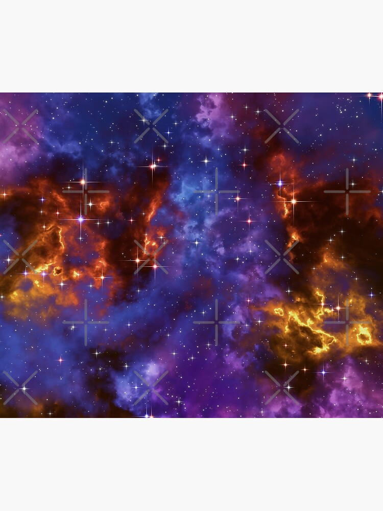 Fantasy nebula cosmos sky in space with stars (Blue/Purple/Red/Yellow) by GaiaDC