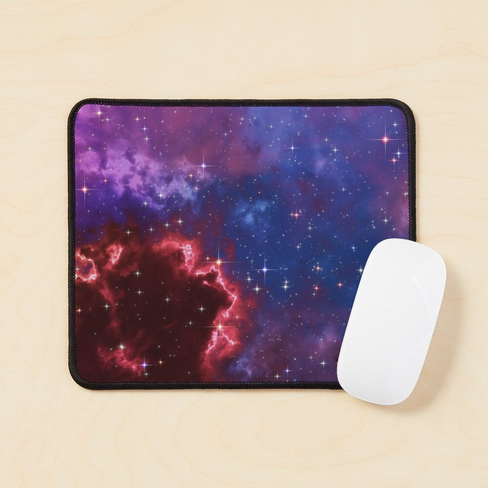 Fantasy nebula cosmos sky in space with stars (Blue/Purple/Red/Yellow/Pink) Mouse Pad