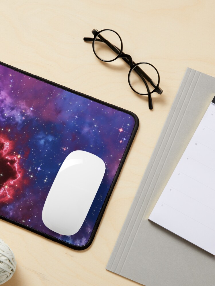Alternate view of Fantasy nebula cosmos sky in space with stars (Blue/Purple/Red/Yellow/Pink) Mouse Pad