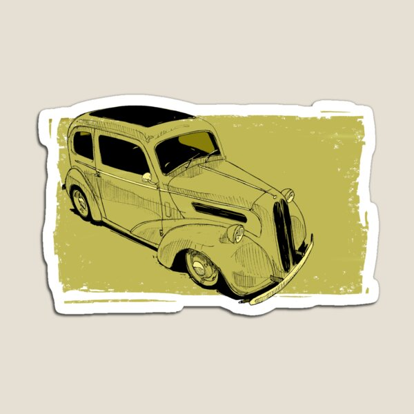 Ford Anglia Hot Rod Magnet