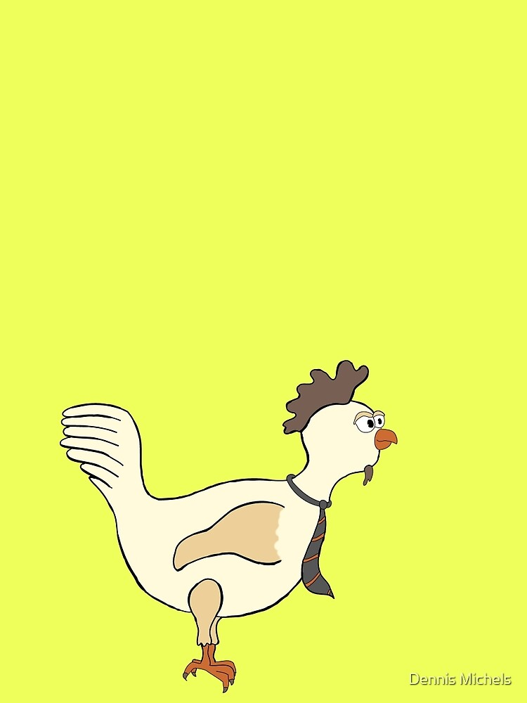 Chicken with a tie by Plaatjes