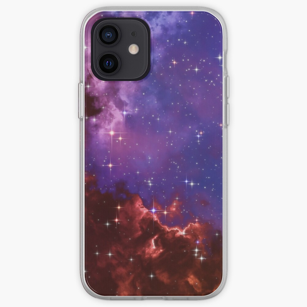 Fantasy nebula cosmos sky in space with stars (Blue/Purple/Red/Yellow/Pink) iPhone Case