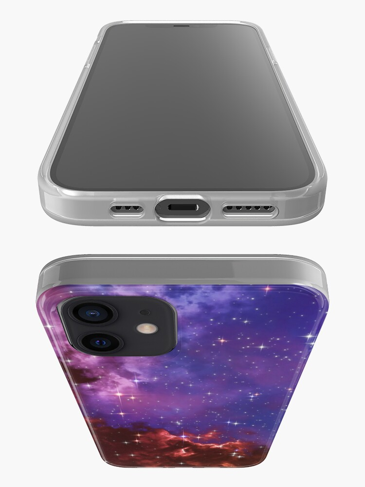 Alternate view of Fantasy nebula cosmos sky in space with stars (Blue/Purple/Red/Yellow/Pink) iPhone Case