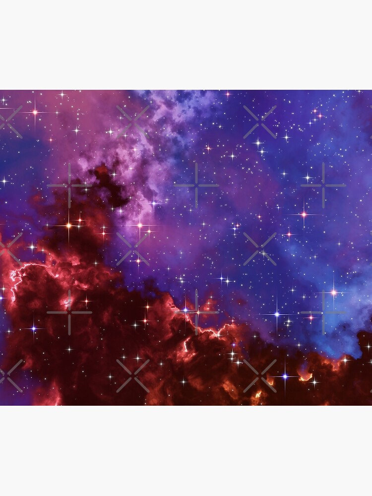 Fantasy nebula cosmos sky in space with stars (Blue/Purple/Red/Yellow/Pink) by GaiaDC