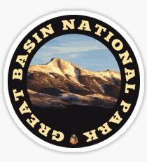 Great Basin National Park circle Sticker