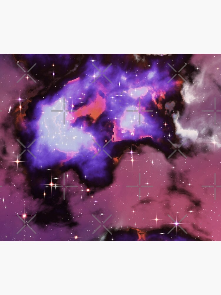 Fantasy nebula cosmos sky in space with stars (Purple/Blue/Magenta) by GaiaDC