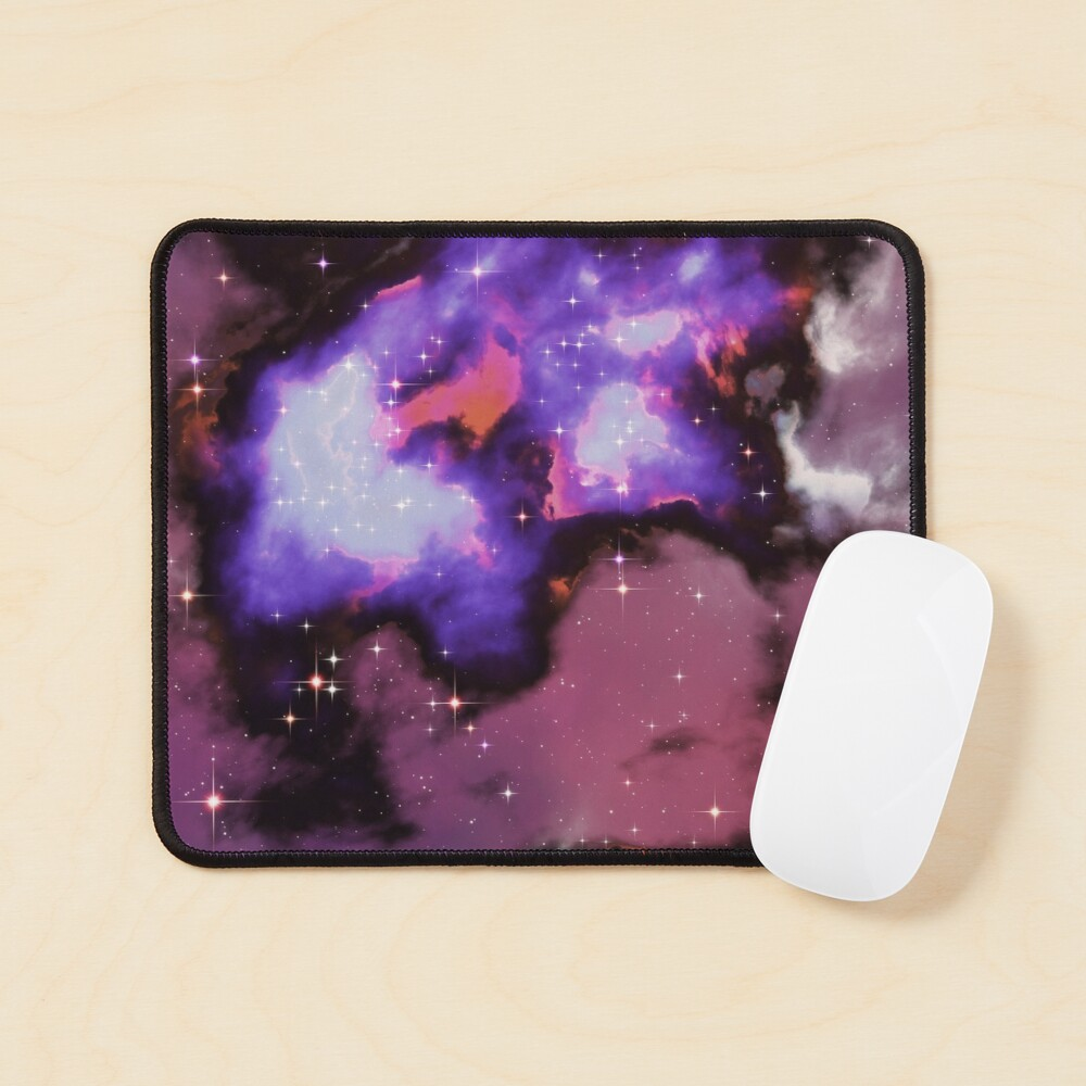 Fantasy nebula cosmos sky in space with stars (Purple/Blue/Magenta) Mouse Pad