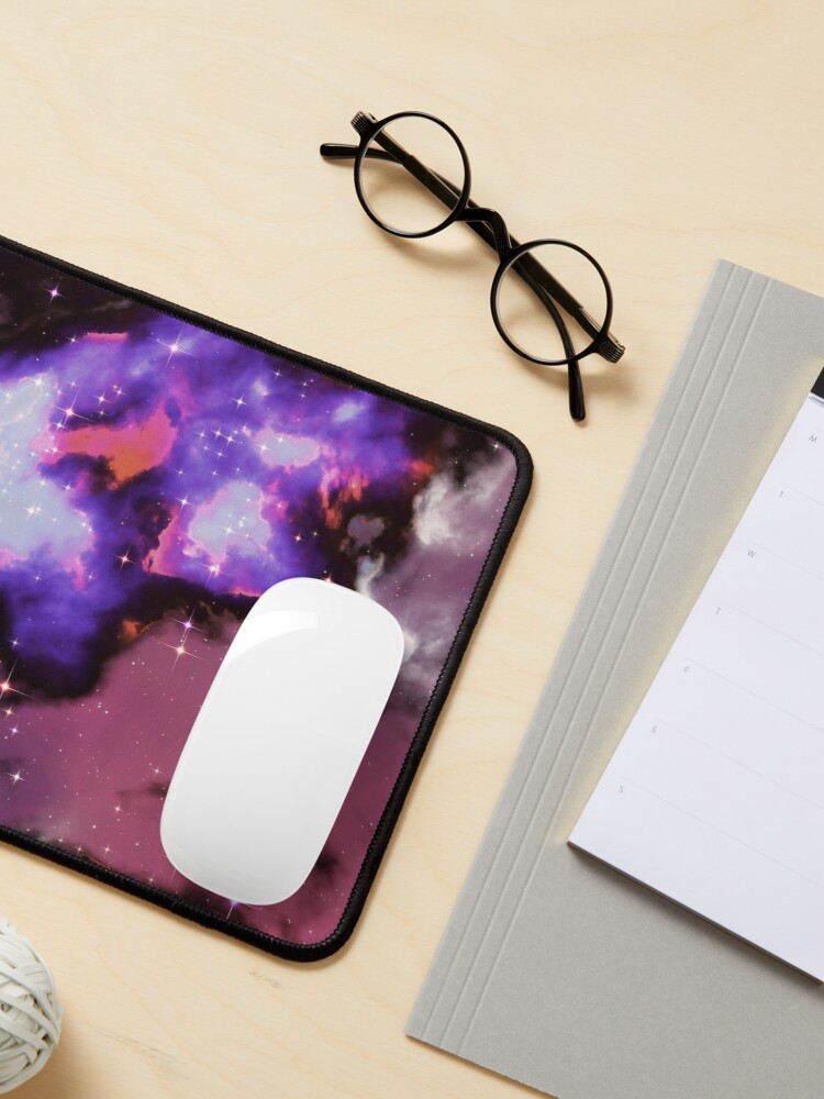 Alternate view of Fantasy nebula cosmos sky in space with stars (Purple/Blue/Magenta) Mouse Pad