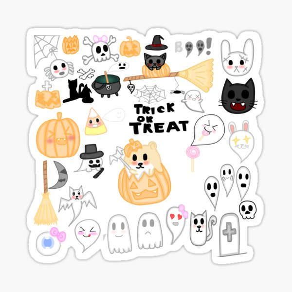 Kawaii Halloween  Sticker Set  Sticker