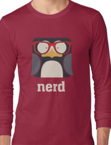 Nerd - Penguin with Geek Glasses - Funny Humor  Long Sleeve T-Shirt