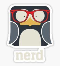 Nerd - Penguin with Geek Glasses - Funny Humor  Sticker