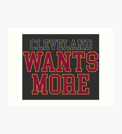 Cleveland will mehr Kunstdruck