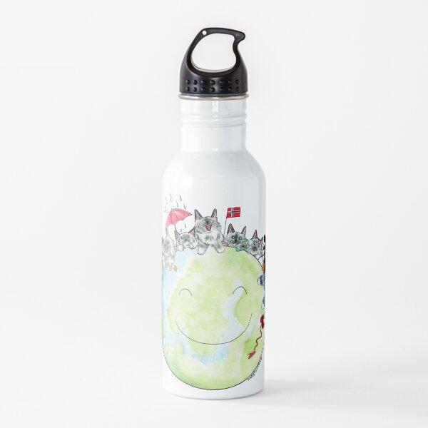 Happy Ragdoll Cat Planet Water Bottle
