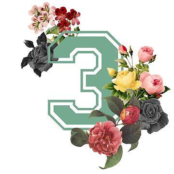 Vintage Floral Varsity #3 by EloiseDocking