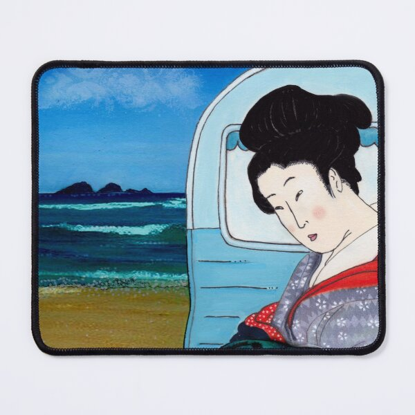 The Hokusai Family Holiday, Day 5 Mouse Pad