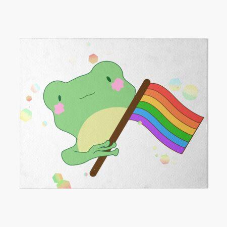 Pride Frog Gems Art Board Print