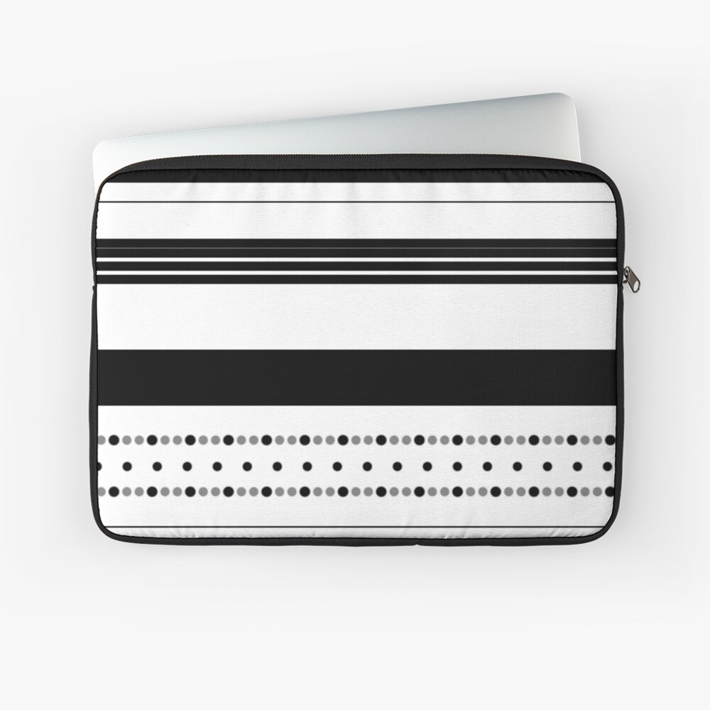 Dots and stripes B&W Laptop Sleeve