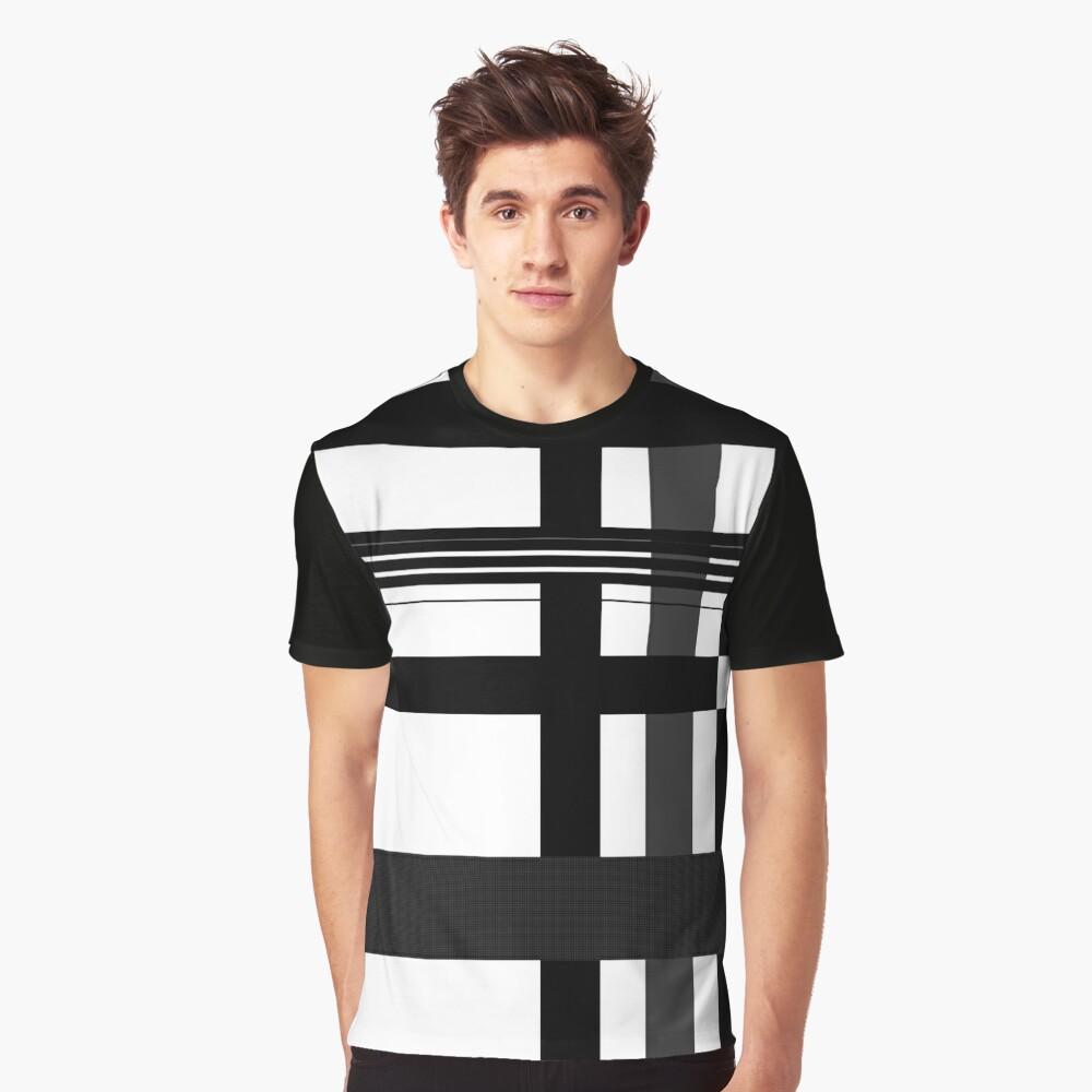 Black n' White plaid Graphic T-Shirt