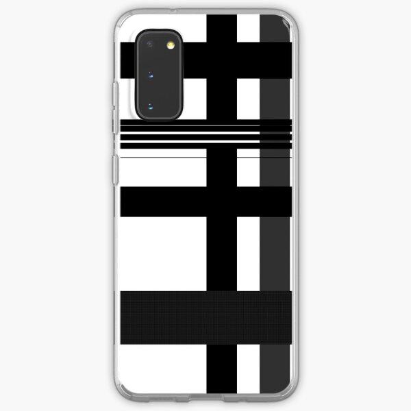 Black n' White plaid Samsung Galaxy Soft Case