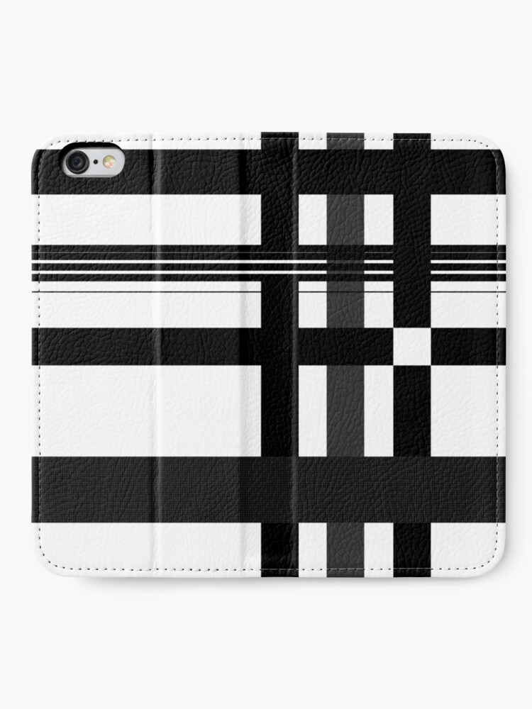 Alternate view of Black n' White plaid iPhone Wallet